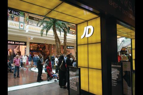 JD Sports' Trafford Centre store races